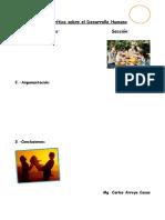 Actividad desarrollo humano