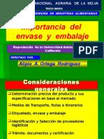 Clase 1. Importancia Del Envase y Embalaje ( 1 Sesion )