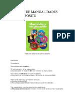 Manual de Manualidades Con Proposito