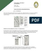 Mediciones de Tensión e Intensidad Eléctrica