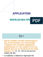 1-4- APPLICATION Modele Multiple