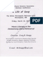 music literacy in the elementary choral rehearsal acda