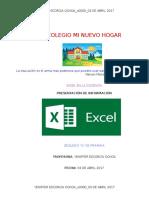 Excel Colegio Mi Nuevo Hogar Yaeo Xlsx