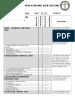 sle rubric formatted 8 portfolio