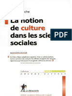 Denys Cuche La Notion de Culture Dans Les Sciences Sociales