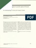 Una antropología en acción para el futuro de Europa