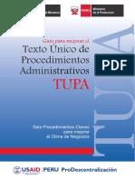 Guía para mejorar el Texto Unico de Procedimientos Administrativos (TUPA).pdf