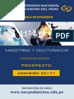 Prospecto Posgrado 2017-i