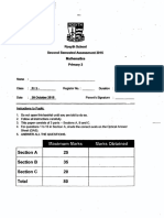 P3 Math SA2 2015 Rosyth Exam Papers