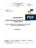 Procedimiento de Instalacion de Postes d