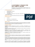 Agricultura Sostenible y Producción Fruticola en El Anmi El Palmar