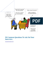 50 Common Questions to Ask on Your Interview
