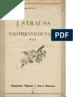 Johann Strauss - An Der Schönen Blauen Donau, For Piano