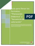 Guía Para El Llenado Del Formato Planeacion y Secuencia
