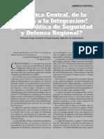 Centroamérica, Política de Defensa y Seguridad, Military Review