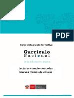 Lecturas Complementarias - Nuevas Formas de Educar
