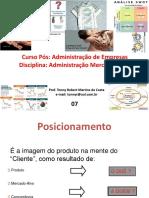 07 - Administração Mercadológica - Posicionamento