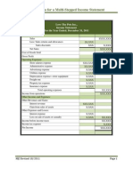 Multi-Stepped Income Statement Directions