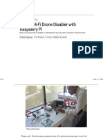 Build a Wi-fi Drone Disabler