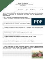 Prueba de Lenguaje Tercero Basico Pimientita en La Cabecita