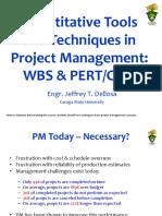 PERT-CPM-WBS (ES 12 Engineering Management)