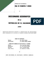 Diccionario Geográfico de El Salvador 1959