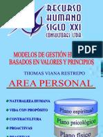 Modelo de Gestion Humana Basado en Ppios y Valores