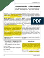 33.- 2011 - Diabetes en México. Estudio CARMELA