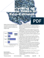 Reciclaje de Residuos de Vidrio Para Eco Cemento
