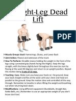 straight leg dead lift- exercise cards