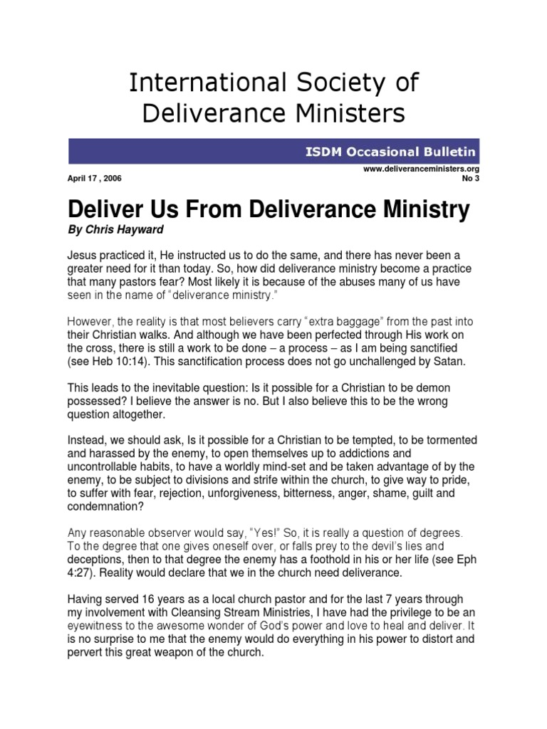 Deliver_Us_From_Deliverance_Ministry pdf | Deliverance Ministry