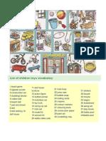 List of Children Toys Vocabulary