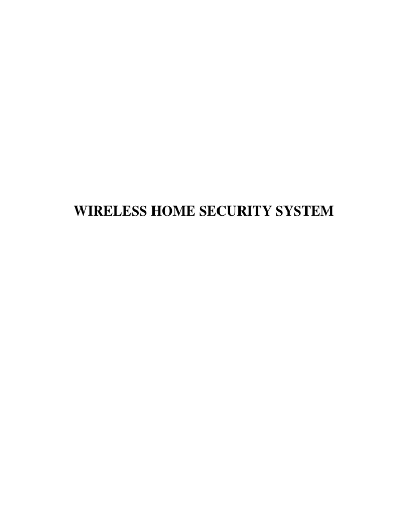 Wireless Home Security System | Microcontroller | Security Alarm