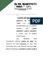 Carta de Baja 2001
