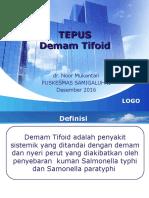 Typhoid Tepus Des 2016
