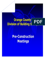Pre Construction Meeting Info