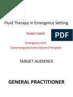 Clinical Mentoring 21 Terapi Cairan Pada Kasus Gawat Darurat Oleh Dr. Hadiki Habib Sp.pd