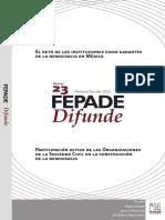 El Reto de las Instituciones, ONG's de la Sociedad Civil en la Construcción de la Democracia en México - FEPADE.pdf