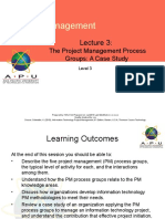 Project Management Process Groups a Case Study