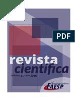Revista Científica sobre Patologia das Construções