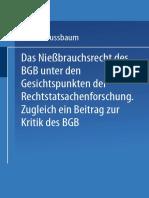 Dr Arthur Nussbaum] Das Niessbrau()