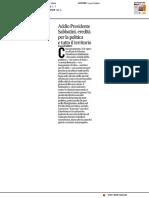 Addio Presidente Sabbatini - Il Corriere Adriatico del 14 aprile 2017