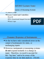 Dynamic characteristics of Measurement system