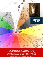 Programme des festivités à Cluny en  2010