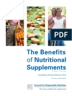 CRN BenefitsofNutritionalSupplements 2012