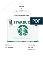 Project File on Starbucks Coffee
