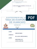 Astopillo Quispe - Munguia Miguel Alex-tasa de Evaporación de Huancayo