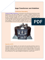 Constant Voltage Transformer and Stabilizer