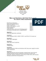 Solar Water Pumping and Sanitation - Proposal to KKS