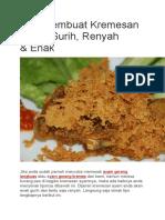 Tips Membuat Kremesan Ayam Gurih